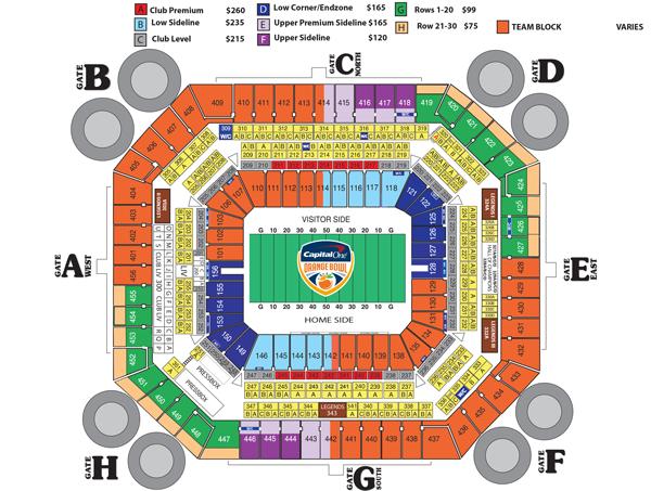 Capital one orange bowl seating map sun life stadium orange bowl